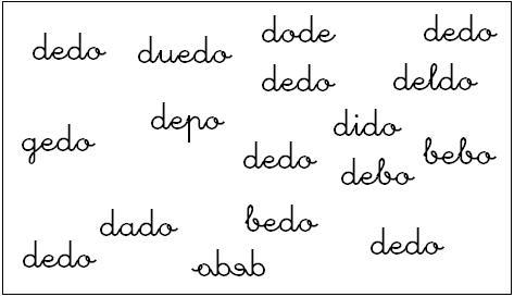 Discriminaci%C3%B3n visual palabras Cómo enseñar a leer y escribir a niños disléxicos